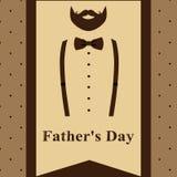 日父亲s 与胡子的Fath的贺卡和悬挂装置 向量例证