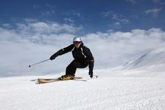日理想的滑雪 免版税图库摄影