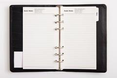 日程表企业目标 免版税库存照片