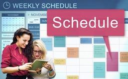 日程表要做概念的组织规划名单 免版税库存图片