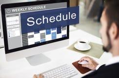 日程表要做概念的组织规划名单 免版税库存照片
