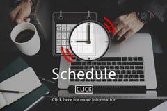 日程表任命组织者计划提示概念 库存图片