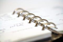 日程表 免版税图库摄影