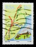 日程, Sesquicentenaire迁移布尔人serie,大约1988年 免版税库存图片
