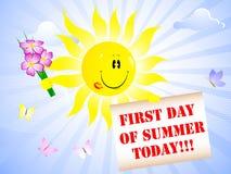 日第一个夏天 免版税库存照片