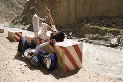 日绊倒的热西藏 免版税图库摄影