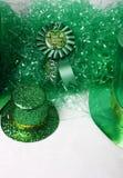 日绿色patricks st 库存图片