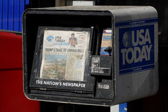 今日美国报报纸 免版税图库摄影
