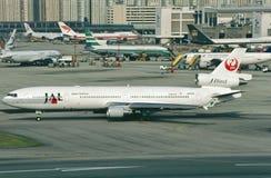 日航麦克当诺道格拉斯公司DC-10-30 免版税库存图片