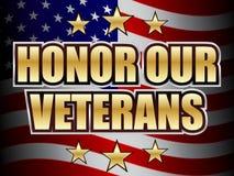 日荣誉称号我们的退伍军人 免版税库存照片
