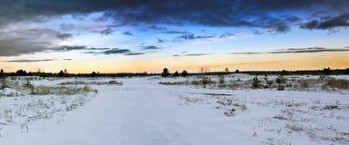 日落冬天 库存照片