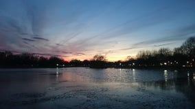 日落华盛顿D C 库存图片