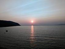 日落反射 库存照片
