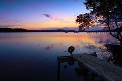 日落反射Kincumber,澳大利亚 免版税库存图片