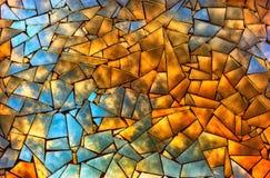 日落发出丁当声在残破的镜子的云彩 免版税库存照片