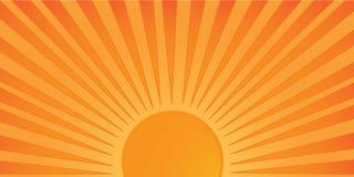 日落向量 免版税图库摄影
