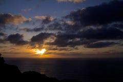 日落和云彩 免版税图库摄影