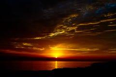 日落和天空 免版税库存照片