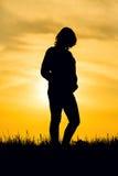 日落和怀孕 库存图片
