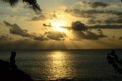 日落和水 免版税库存照片