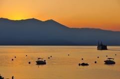 日落和风小海湾 库存照片