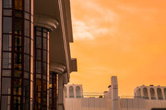 日落和玻璃 免版税图库摄影