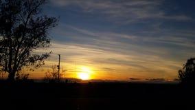 日落圣地亚哥 免版税图库摄影