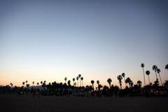 日落圣塔巴巴拉海滩 免版税库存照片