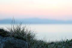 日落在一个春天晚上 免版税库存照片