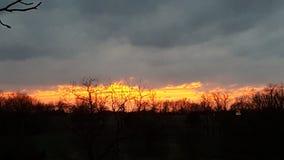 日落在中西部 库存照片