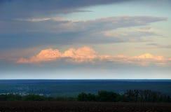 日落在乌克兰 库存图片