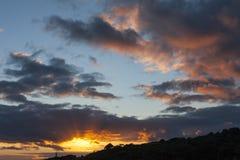 日落在亚速尔群岛 免版税库存图片