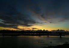 日落在亚齐 库存照片