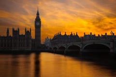 日落在伦敦 免版税库存图片