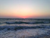 日落在佛罗里达 免版税库存照片