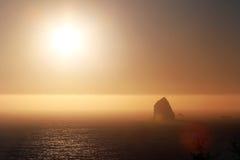 日落在俄勒冈 库存图片