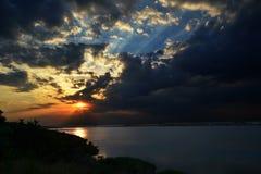 日落在傲德萨 免版税库存照片