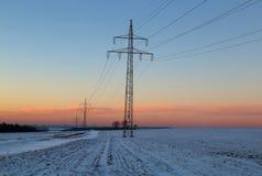 日落在冬天 库存图片