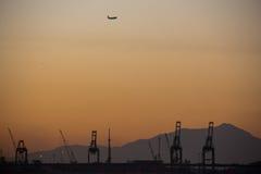 日落在冬日在里约热内卢 库存照片