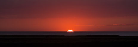 日落在冰岛 库存图片
