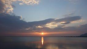 日落在凌家卫岛 免版税库存照片