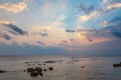日落在加勒,斯里兰卡 免版税库存图片