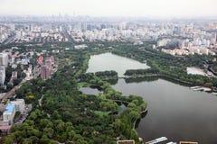 日落在北京,中国 免版税库存图片