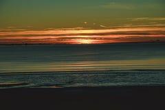 日落在北海 免版税库存图片