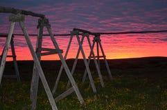 日落在北部冰岛 免版税图库摄影