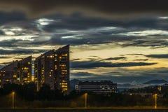日落在卢布尔雅那 库存图片
