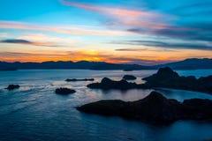 日落在印度尼西亚 免版税库存图片
