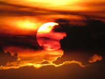 日落在哥伦比亚 库存图片