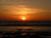 日落在哥斯达黎加 库存照片