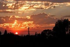 日落在喀麦隆公园 库存照片